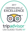 New York Bus Tours | Recipient of 2017 TripAdvisor Certificate of Excellence