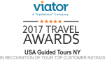 NYC Bus Tours | Recipient of 2017 Viator Travel Award