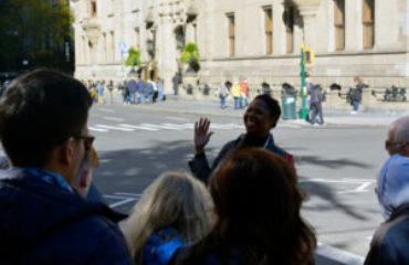 Tour Guide With a Group