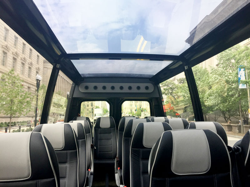 OPEN-TOP OR GLASS-TOP BUS